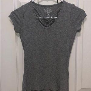 Women's strait front t-shirt